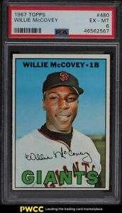 1967 Topps Willie McCovey #480 PSA 6 EXMT