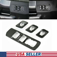 For 2015-2019 Ford F150 Accessories Window Lift Switch panel Carbon Fiber Trims