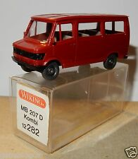 MICRO WIKING HO 1/87 MB MERCEDES 207 D VAN MINIBUS rouge in box