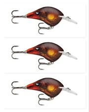 """(3) Rapala Dives To DT-6 2"""" Crankbaits 3/8 Oz. Lures Rusty DT06 RUS New NIP"""