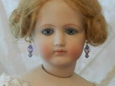 Light Lilac Drop Earrings ~Antique Doll Jewelry for Jumeau