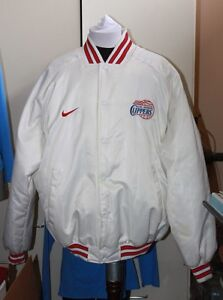 LOS ANGELES CLIPPERS LA NIKE RETRO STYLE SATIN JACKET White Polyester Nylon used