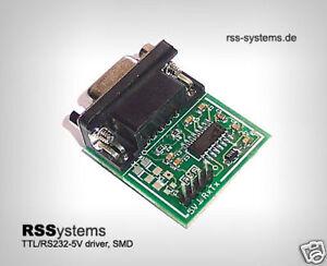 10pcs. DIGITAL CONVERTER CMOS/TTL TO RS232 SIGNALS, SMD, +5V