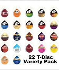 22 Tassimo T Discs Variety, Taster, Starter Pack: Coffee Tea & Choc Pods T Disks