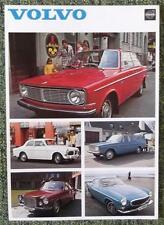 VOLVO RANGE SALES SHEET (INC 1800E) 1970 REF- 4149