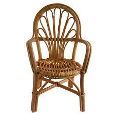 Sturdy Child's Wicker Rattan Cane Chair