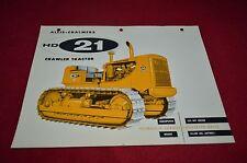 Allis Chalmers HD-21 Crawler Tractor Dealer Brochure YABE11 Ver42