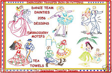 Dancers Dainties Design Embroidery Transfers Motifs Dancing Couples IRON-ON 2056