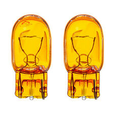 2x W21W WY21W T20 7440 Sidelight Indicator Turn Signal Yellow Amber Glass Bulbs