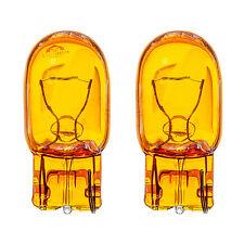 2x W21W WY21W T20 7440 Sidelight Indicator Turn Signal Yellow Amber Glass Bulbs