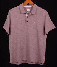 Rag & Bone Standard Issue Brick Red Heather Cotton Blend S/S Polo Shirt L