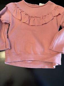Zara Baby Toddler Girl 2T-3t  Sweatshirt Ruffle