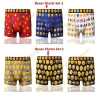3 or 6 Pack Cotton Rich Emoji Mens Boxer Shorts Underwear Gifts Trunks S,M,L,XL