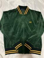 Fred Perry Velor Jacket Rib Line Old Clothes Size L