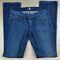 7 for all mankind Straight Leg Womens Jeans Size 28 EUC W32 L34 (A8)