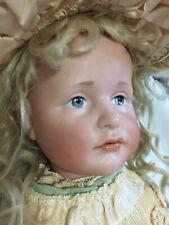Antique Kammer & Reinhardt 114 Bisque Character Doll Gretchen W/Painted Eyes