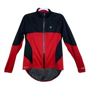 Pearl Izumi Womens Cycling Jacket Size M Select Barrier WXB Waterproof Red Snaps