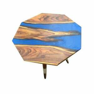 """18"""" Resin table, epoxy Coffee table top, epoxy wooden table Decors"""