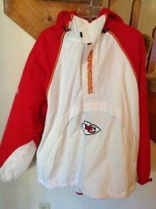 VTG Kansas City Chiefs NFL Team Reebok Lined Jacket, Size LG