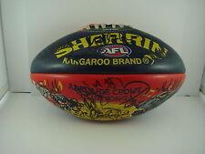 Adelaide Crows AFL Sherrin Football - Signed - Bickley, Carey, Burton...