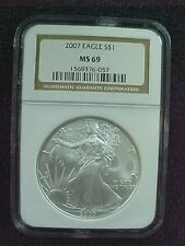 2007 EAGLE DOLLAR  NGC MS 69