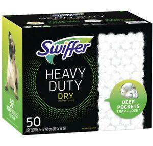 Swiffer Sweeper Heavy Duty Dry Sweeping Cloths Refill 50 Count 26.3 x 19.9 cm