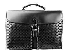 MONTBLANC MEISTERSTUCK LARGE BAG DOUBLE BRIEFCASE BLACK LEATHER 106019 $2000