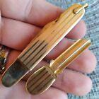 Vintage Antique Robeson Shuredge Etched Key Tool Pen Fob Folding Pocket Knife