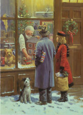 Teddy Bear Dolls House Nostalgic Toy Shop Boys Mens Girls Christmas Card