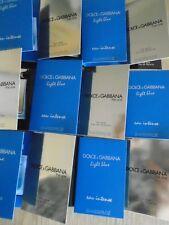 LADIES PERFUME SAMPLES VIALS X 12 DOLCE & GABBANA LIGHT BLUE INTENSE NEW THE ONE
