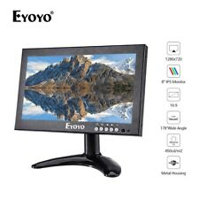 "EYOYO 8"" IPS 16:9 Monitor 1280*720 HDMI VGA AV BNC For Raspberry Pi CCTV System"