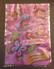 Butterfly Party Bag / Loot Bag Plastic x 10