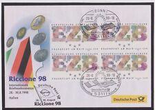 BRD-1998-Briefm.-Ausst.-Beleg-RICCIONE ITALIEN-28.-30.08.97-Int. Briefm.-Mi:2000