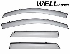 WellVisors Side Window Visors W/ Black Trim For 11-Up Mitsubishi Outlander Sport