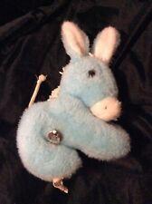 Vintage Eden Blue Plush Musical Giraffe Pony Horse Motion Haiti Wind Up Baby Toy