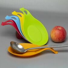 Spoon Holder Stand Silicone Heat Resistant Pad  Spatula  Kitchen Organizer Tool