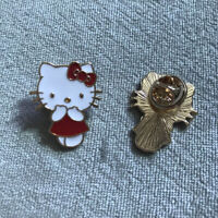 Cute Enamel Hello Kitty Brooch Pin Backpack Lapel Hat Brooches Girl Gift