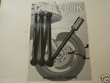 O228 BROCHURE  CYCLELOK THE FOLDING MOTORCYCLE LOCK ENGLISH 2 PAGES