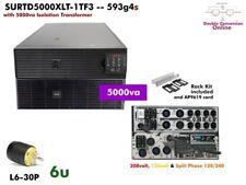 593g4s ~ APC Smart Online 5000va UPS 208/240+120v SURTD5000XLT-1TF3 #NewBatts
