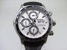 """Ebel"" 1911 Discovery CHRONOGRAPH Day&Date Swiss Men's All St/Steel Wristwatch"