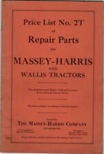Price List No.2T of Repair Parts for Massey-Harris and Willis Tractors