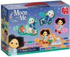 Jumbo 19743 Moon and Me - 4 in 1 Shaped Puzzles, Multi