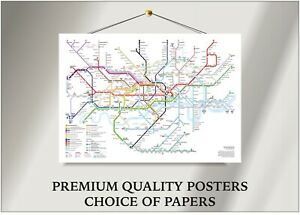 Tube Map London Underground Large Poster Art Print Gift A0 A1 A2 A3 A4 Maxi