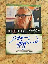 2019 X-Files UFO's and Aliens Dean Haglund Ringo Langley Autograph Card!