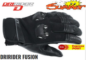 DRIRIDER Fusion Motorcycle Gloves SUMMER NEW! Short cuff  XL 2XL Vented Road