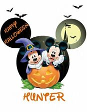 *****DISNEY MICKEY  MINNIE MOUSE HALLOWEEN***PERSONALIZED SHIRT IRON ON TRANSFER