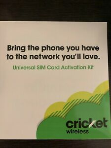 Cricket Wireless - Bring Your Own Phone SIM Kit - For GSM Unlocked - Brand New