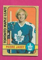 1972-73 OPC # 237 LEAFS PIERRE JARRY  ROOKIE HIGH # GOOD CARD (INV# D1716)