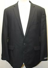 Kenneth Cole with Blackberry Logo Men Black Blazer Lined 44R 2 Buttons