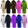 Mens & Ladies 100% Cotton Terry Towelling Hood Bathrobe Dressing Gown Bath Robe